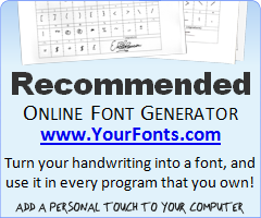 YourFonts.com Font Generator